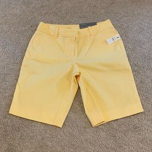"Talbots ""Perfect Short"" Yellow! TAGS ON! 2P."